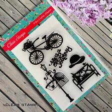 Nuevo conjunto de sello de goma transparente Hecho a Mano Tarjetas Scrapbook Jardín Sombrero Sellos CS199