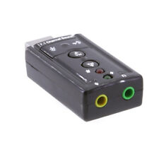 USB 2.0 Virtual 7.1 CH Channel 3D Audio Stereo Sound Card Adapter LED indicator