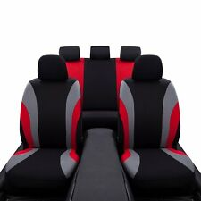 Car Seat Covers Red and Black Complete Full Set For Auto Vehicle Upholstery US