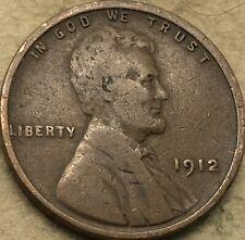 "1912 -P ""Good"" Lincoln Head Wheat Cent Penny. ""Good"" Lincoln Copper Wheat Cent."
