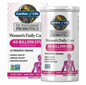 Garden of Life Women's Probiotics Daily Care Capsules, 40 Billion CFU (30 Count)