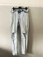 New Look Size 16 Skinny Light Blue Distressed Jeans