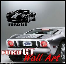 FORD GT40 ABSTRACT WALL ART VINYL DECAL