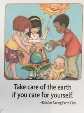 Mary Engelbreit Handmade Magnets-Take Care Of The Earth
