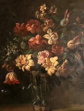 Bouquet de fleurs. HST, école française XIXe dans le goût de Juan De Arellano.