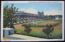 Northwestern University Dyche Stadium Wildcats, Evanston Illinois Linen Postcard