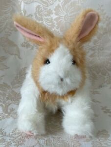 Hasbro FurReal Friends Baby Brown Tan White Hop Cuddle Bunny Rabbit 2011 Tested