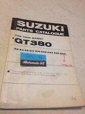 Suzuki Parts list GT380 GT 380 380GT catalogue liste pièce détachée par pays
