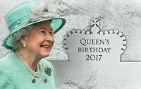 2017 AUSTRALIA STAMP PACK 'THE QUEEN'S BIRTHDAY 2017' -  MNH STAMPS & MINI SHEET