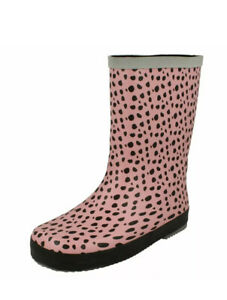 Clarks Girls Pink Combi Wellington Boots Tarri Splash Size UK 1 G / EU 33