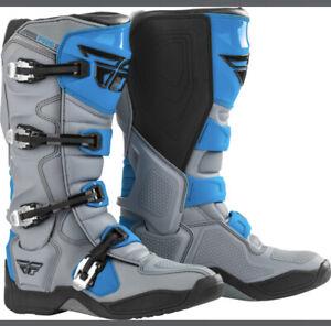 364-71112 Fly Racing Fr5 Boots Grey/Blue Sz 12
