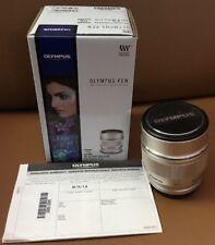 Silver Olympus M.Zuiko Digital 75mm f/1.8 AF ED Lens For Micro Four Thirds
