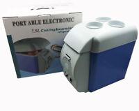Electric Cooling and Warming Portable 7.5 Liter 12V Car Refrigerator Single Door