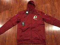 Nike Mens Washington Redskins Sideline Full Zip Hoodie Sweatshirt Jacket Large L