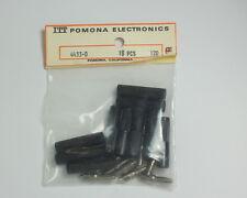 Lot of Ten Black Pomona Banana Plugs 4433-0
