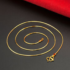 Pure 999 24K Yellow Gold Necklace/ Unisex Fashion Snake Chain Necklace