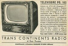 W6269 Televisore Trans Continents Radio - Pubblicità 1953 - Advertising