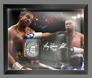 Tony Bellew Hand Signed Black Vip Boxing Glove In A Dome Frame : B