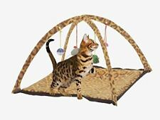 Pet Cat Activity Playing Foldable Tent Toy Bed Pad Puppy Dog Mat House Bells New