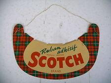 casquette publicité ruban adhésif SCOTCH ancienne vers années 60
