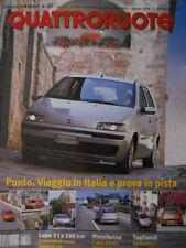 Quattroruote 526 1999   - Volkswagen LUPO - Fiat Punto viaggio in ITALIA   [Q34]