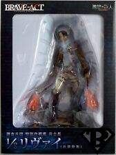 """LEVI RIVAILLE CLEANING Attack On Titan 1/8 Scale 8"""" PVC Figure Brave-Act 2014"""