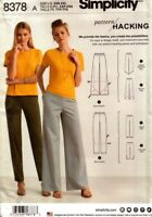 Simplicity Sewing Pattern 8378 Womens Pants Pattern Hacking Size XXS-XXL NEW