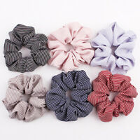 Womens Hair Accesorios Ladies Tie Striped Scrunchies Ponytail Elastic Hair Ropes