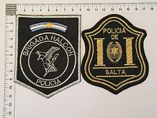 2 ORIGINAL POLICE SWAT HALCON SALTA PATCHES COLLECTION PATCH ARGENTINA 80s 90s