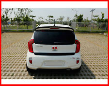Glass Wing Spoiler 3D Bright Silver Painted For 11 -15 Kia Picanto : New Morning