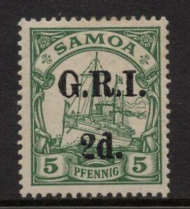 1914 Samoa G.R.I. 2d on 5pf Overprint German Colony - Kaiser Yacht, Signed MLH