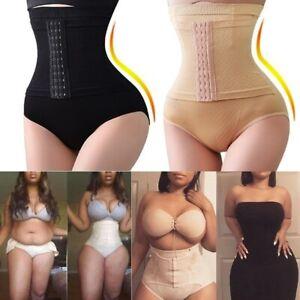 Women High Waist Tummy Control  Shapewear Waist Trainer Body Shaper With 3 Hooks