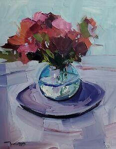 JOSE TRUJILLO Oil Painting IMPRESSIONISM MODERN COLLECTIBLE Still Life ORIGINAL