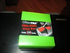ULTRA PRO 120 PRO RED DUAL DECK BOX GREEN SEALED