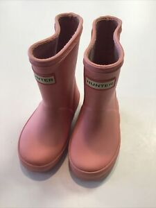 Toddler Girls light Pink Hunter Rain Boots Size Size 5
