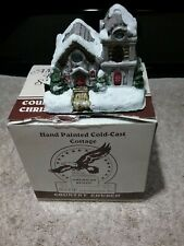 COUNTRY CHRISTMAS COTTAGE, COUNTRY CHURCH, THE AMERICAN RUSTIC SERIES 1989