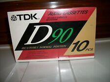 TDK D90 Minutes  Audio Cassette Tapes  10 pack