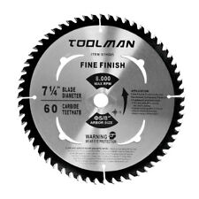 "Circular Saw Blade 7-1/4"" 5/8"" 1 pc 60T Table Miter Cutting for DeWalt & Makita"