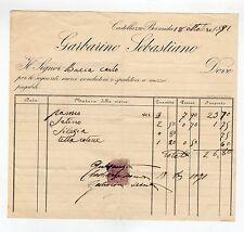fattura antica - GARBARINO SEBASTIANO 1891
