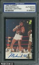 Muhammad Ali Signed 1992 Classic Boxing AUTO PSA/DNA Authentic