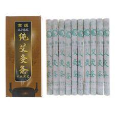 10Pcs Pure Moxa Roll Moxa Stick Moxibustion Rollers Navel Smoked Therapy 纯艾柱艾灸艾条