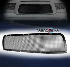 2007 2008 2009 TOYOTA TUNDRA FRONT UPPER RIVET STAINLESS STEEL MESH GRILLE BLACK
