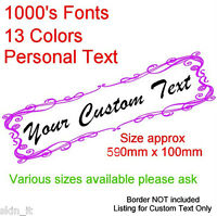 Custom Text, personalised message lettering vinyl decal sticker graphic