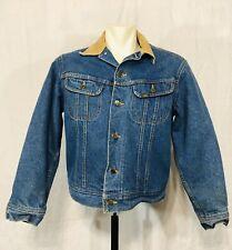 Vintage Lee StormRider Jean Jacket Size 40 Horse Blanket Lined Corduroy Collar