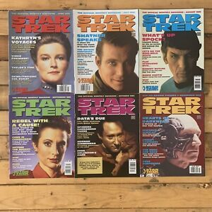 Star Trek The Official Monthly Magazine 1995 #4 Thru To #9 6 Issues Kirk Picard