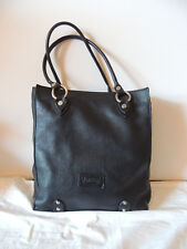 Women's Valentina Italy Black Leather Handbag Shoulder Bag Purse