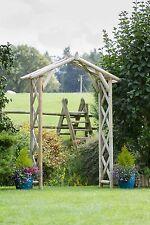 Zest 4 Leisure Rustic Wooden Garden Arch  Plant Support Trellis FSC Wood