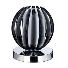Searchlight finition chrome Touch Lampe de table en acrylique fumé avec en verre dépoli NOUVEAU