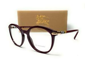 Burberry BE2264 3687 Bordeaux Demo Lens Women's Phantos Eyeglasses 52mm