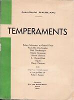Maublanc - Tempéraments (hommage de l'auteur a jean Tenant)
